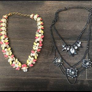 Two J. Crew statement necklaces